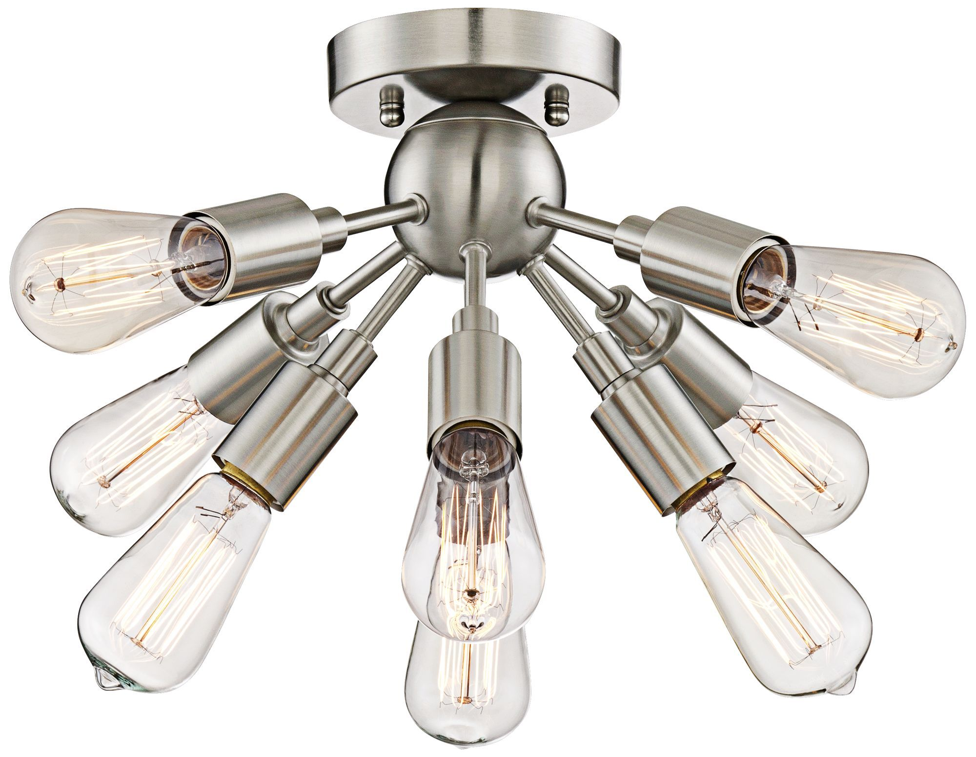 Quorum electra 8 light sputnik chandelier amp reviews wayfair - Hemingson 8 Light Satin Nickel Ceiling Light 20 3