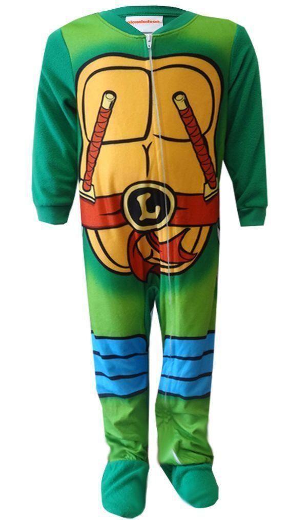 a0abfcedc TMNT Ninja Turtles Toddlers 1pc Blanket Sleeper Pajamas NWT size 2T ...