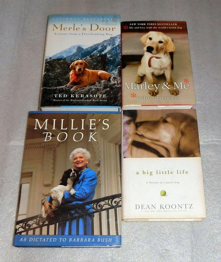 Canine Biographies Millie Bush Marley Merle\u0027s Door Dean Koontz Memoir Lot 4 & Canine Biographies Millie Bush Marley Merle\u0027s Door Dean Koontz ...