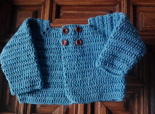 Aprende cómo hacer una chaqueta de lana a ganchillo para recién ...