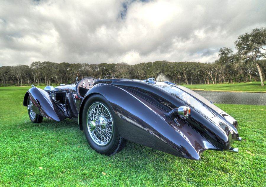 1936 Jaguar SS100. This was the first car to bear the