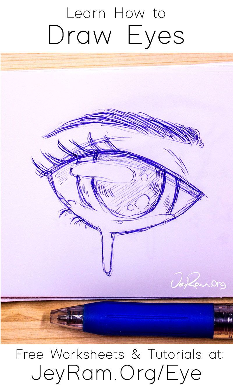 How To Draw Eyes Free Worksheet Tutorial In 2020 Eye Drawing Drawings Guided Drawing