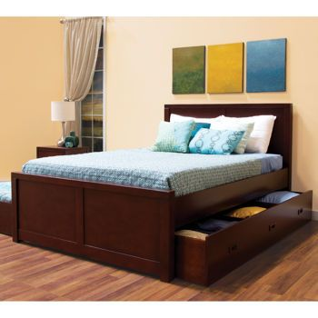 Peyton Full Bed with Twin Trundle on one side and Storage drawer