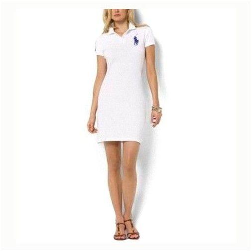 polos pas cher! Polo Ralph Lauren particulière Robe en coton blanc en 1702 11f174330086