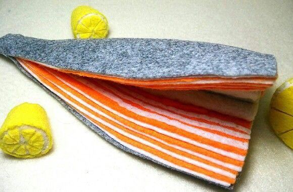 felt salmon