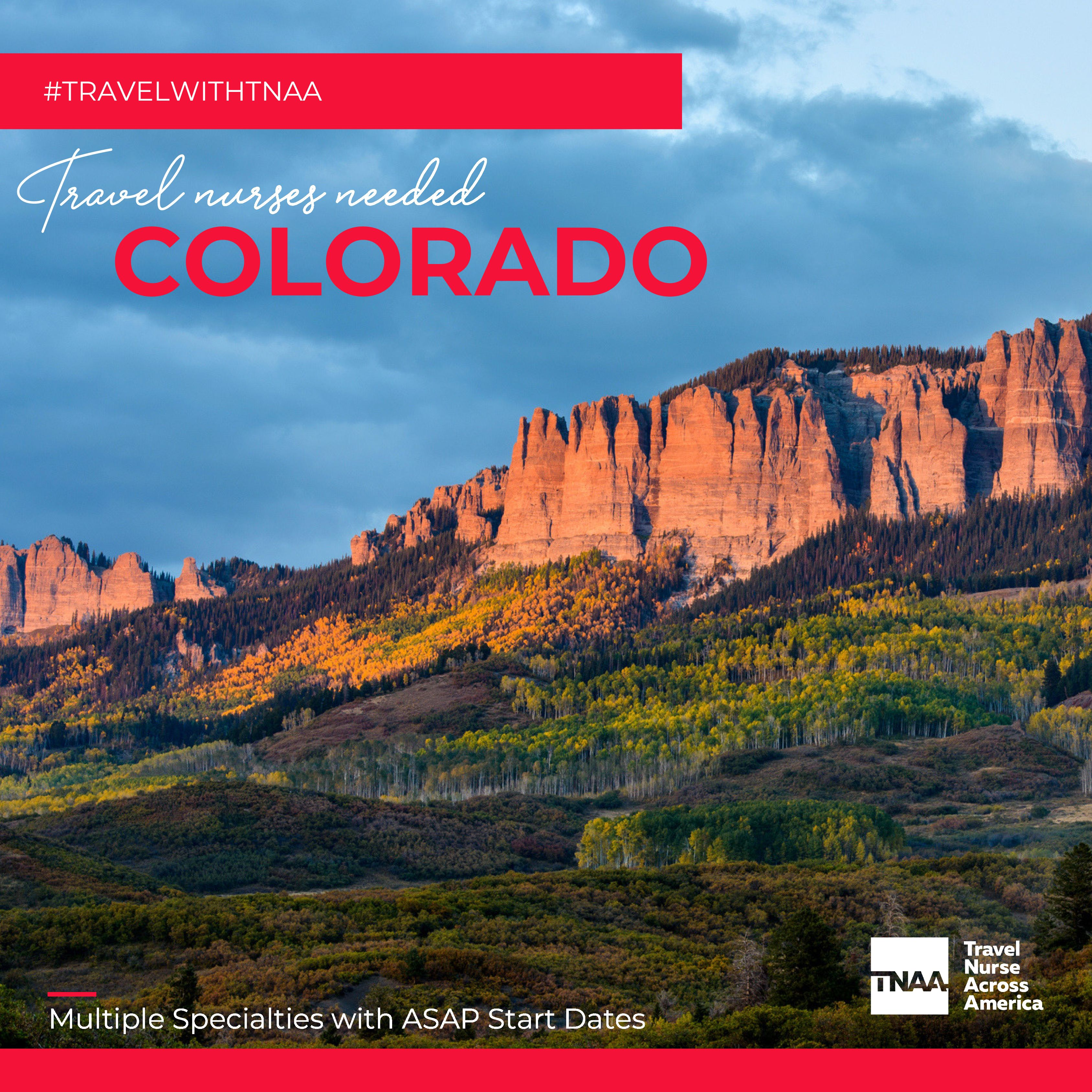 Your next adventure is in Colorado! We have immediate