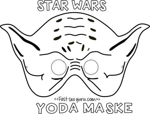 Printable Yoda Mask Template For Kids Free Print Printable Coloring Page Star Wars Mask Template Star Wars Kids Star Wars Crafts