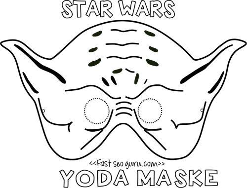 Printable yoda mask template for kids.Free print... | Printable ...