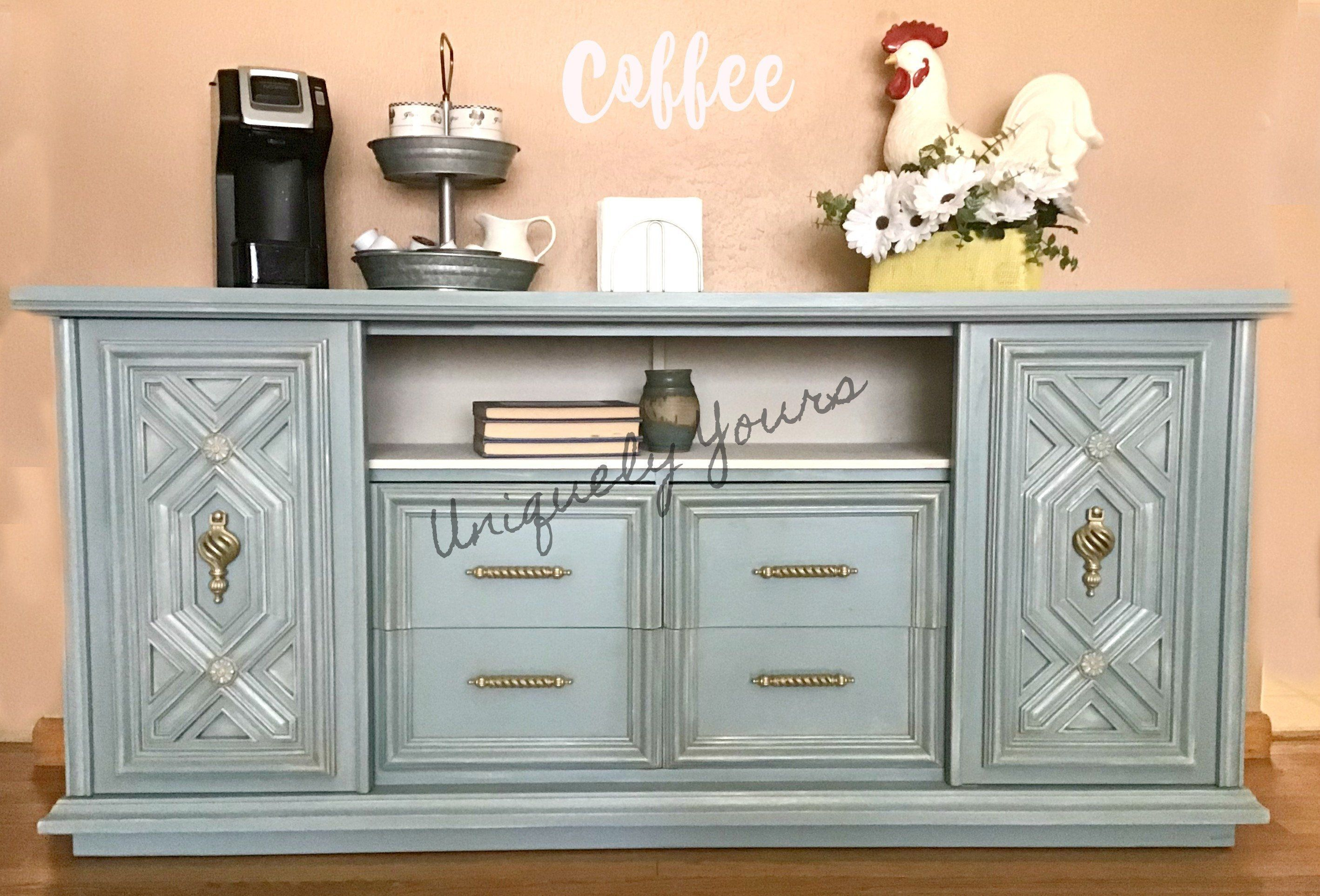 Hand Painted Buffet Sideboard Media Console Entertainment Center Shabby Chic French Country C Entertainment Center Repurposed Furniture Sideboard Media Console