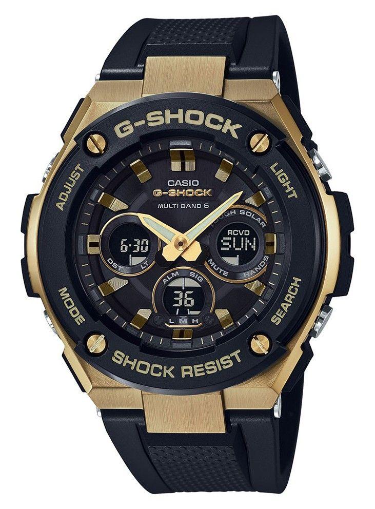 Casio G-Shock Steel Solar en Radiogestuurd Doublé GST-W300G-1A9ER