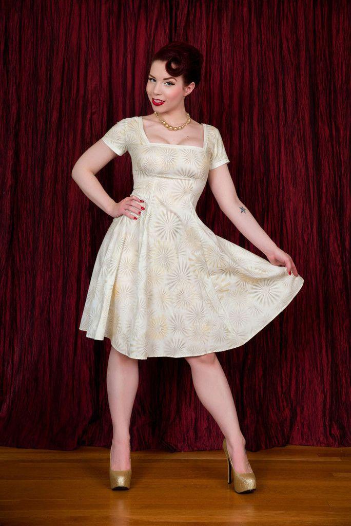 Irene Dress - Shimmer Gold