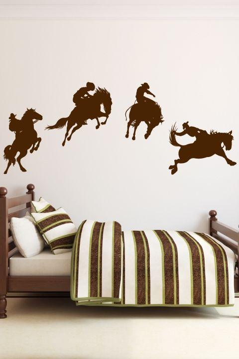 Cowboy Wall Decals Walltat Cowboy Room Cowboy Bedroom Boys