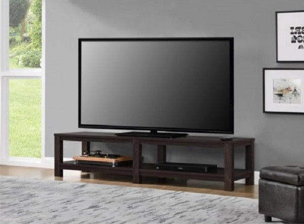 tv stand 65 inch flat screen entertainment media home center console table mount tv stands. Black Bedroom Furniture Sets. Home Design Ideas