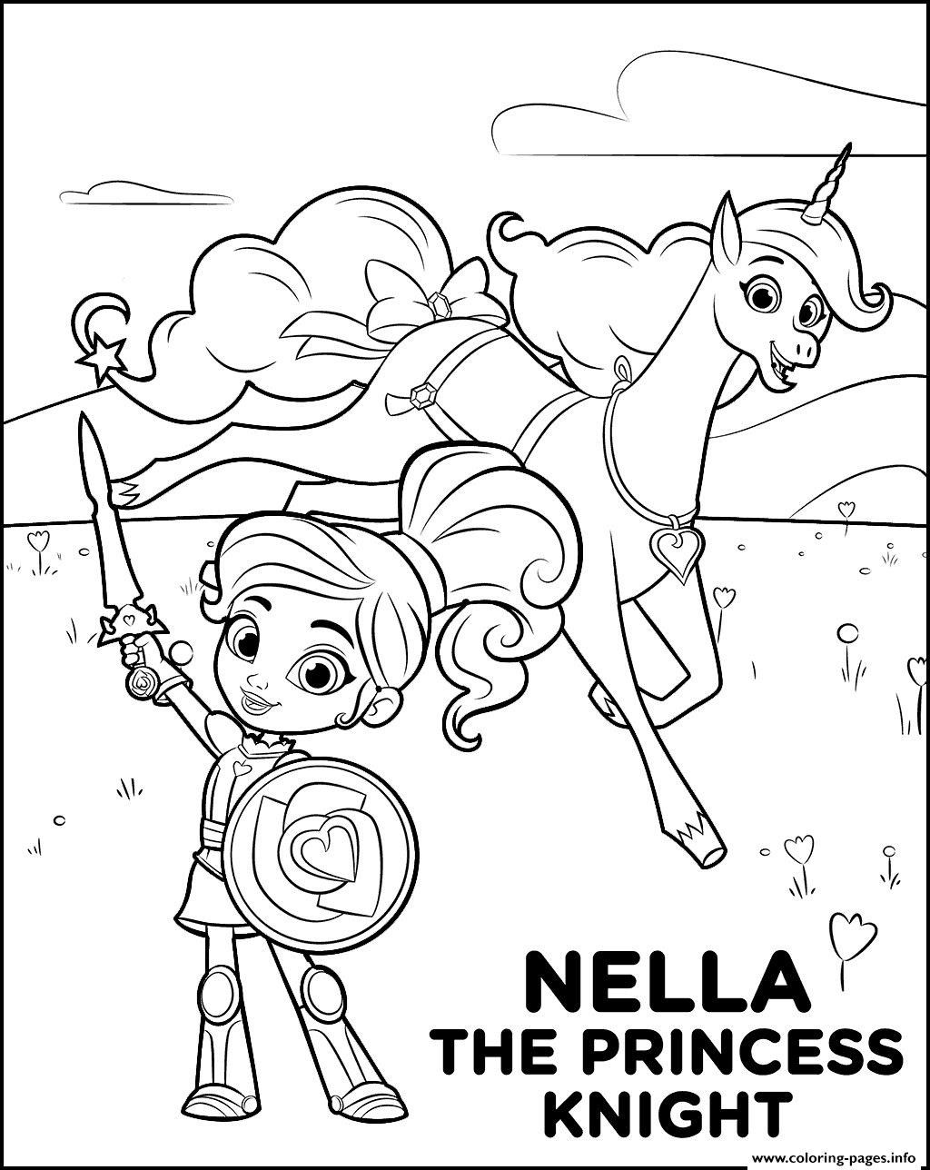 Nella The Princess Knight Coloring Page Youngandtae Com Princess Coloring Pages Princess Coloring Cartoon Coloring Pages