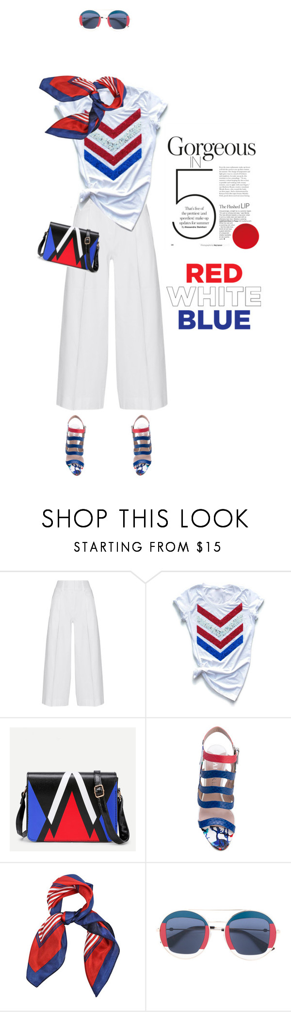 """Gorgeous #730"" by meryflower ❤ liked on Polyvore featuring Diane Von Furstenberg, Aperlaï, Gucci and fourthofjuly"