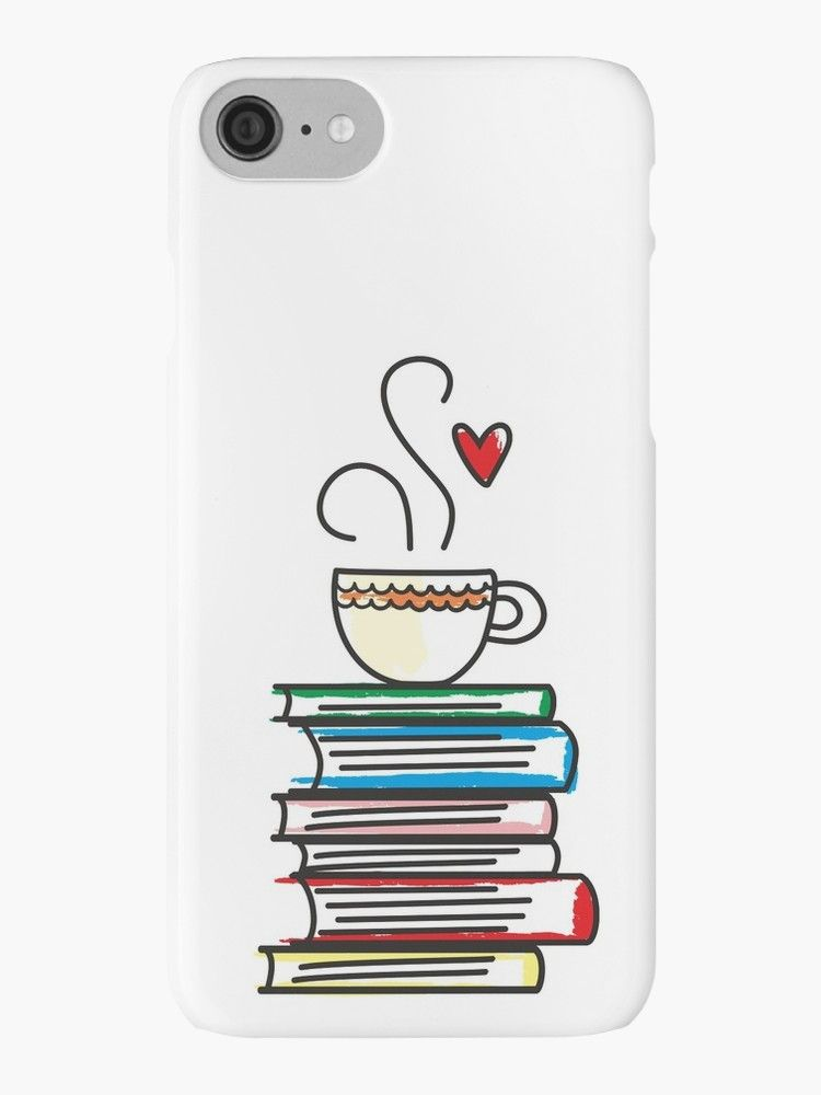 Cup Of Tea And Books T Shirt Cute Gift For Book Lovers Iphone Case By Memwear Tea And Books Book Lovers Gifts Book Iphone Case