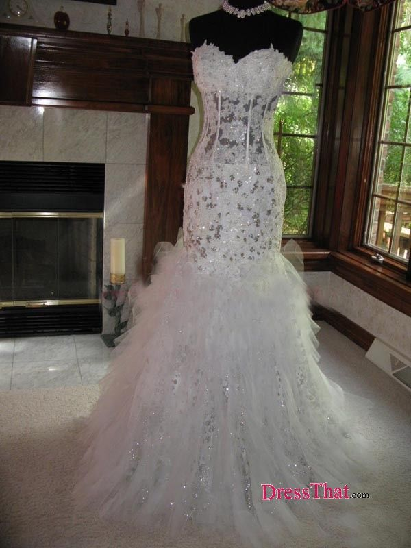 mermaid wedding dresses with bling and lace and ruffles - Google ...