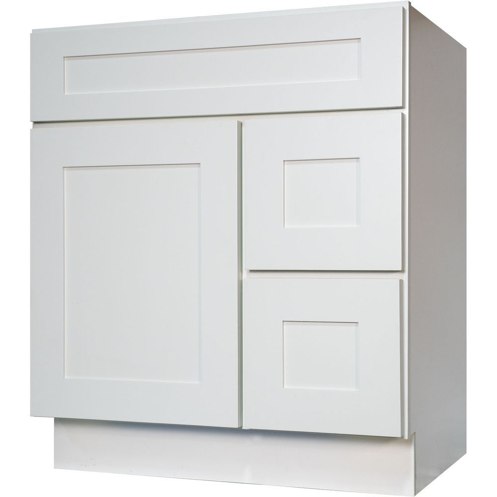 Details About New 30 Bathroom Vanity Single Sink Cabinet In White
