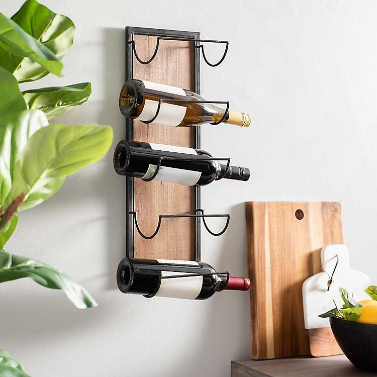 Wood And Metal Wall Wine Rack Shelf In 2020 Wine Rack Wall Wine Rack Shelf Wine Rack