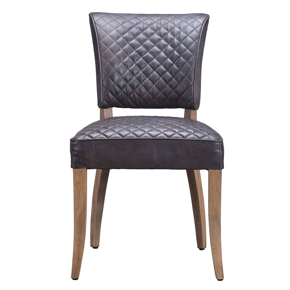 Timothy Oulton Mimi Leather Dining Chair Black Barker