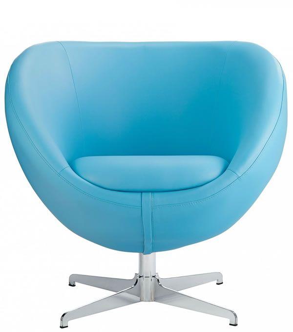 Best Balisy Modern Swivel Chair In Blue Contemporary Funky 400 x 300
