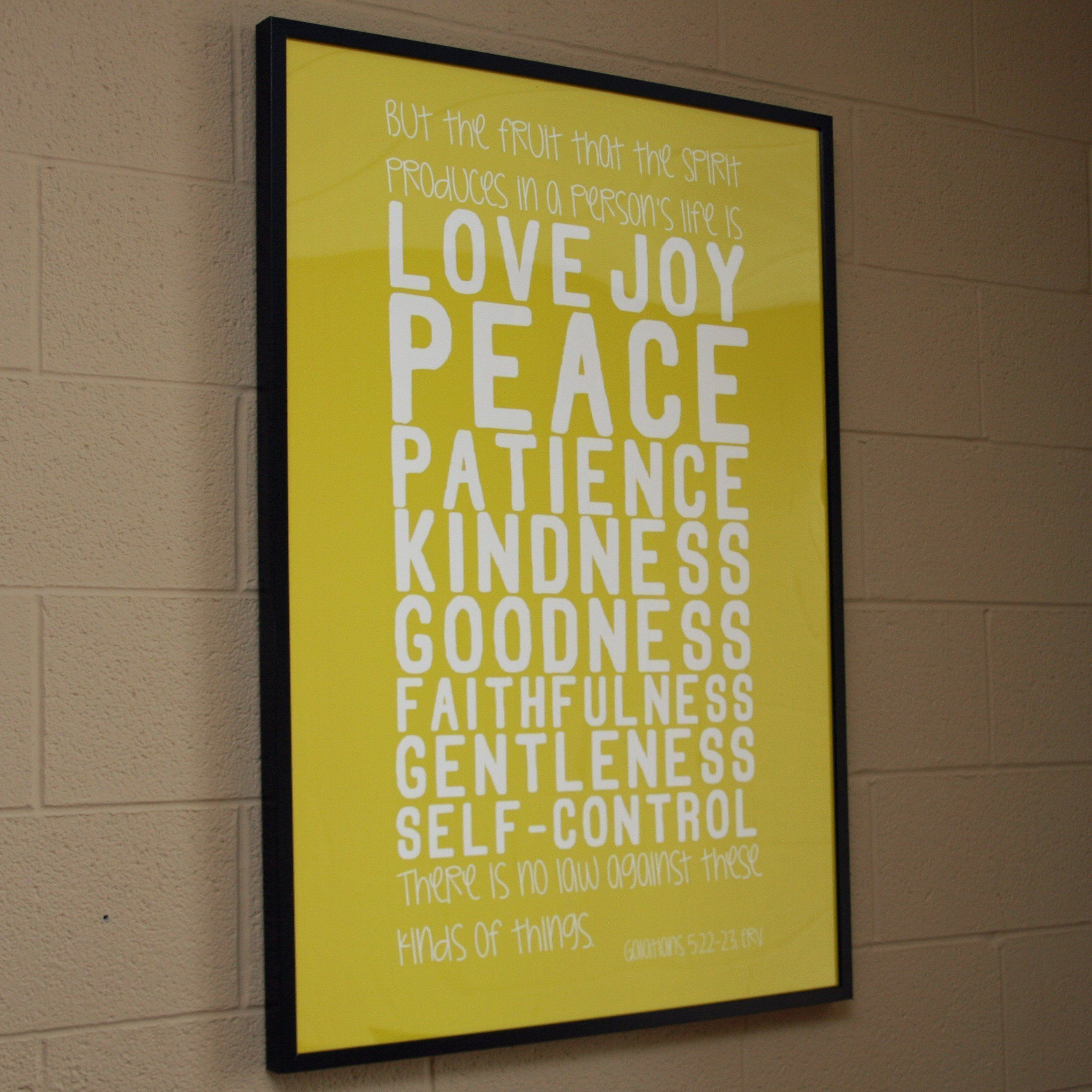 Galatians 5:22-23 Movie Poster-Sized Print | Large Scripture Wall ...