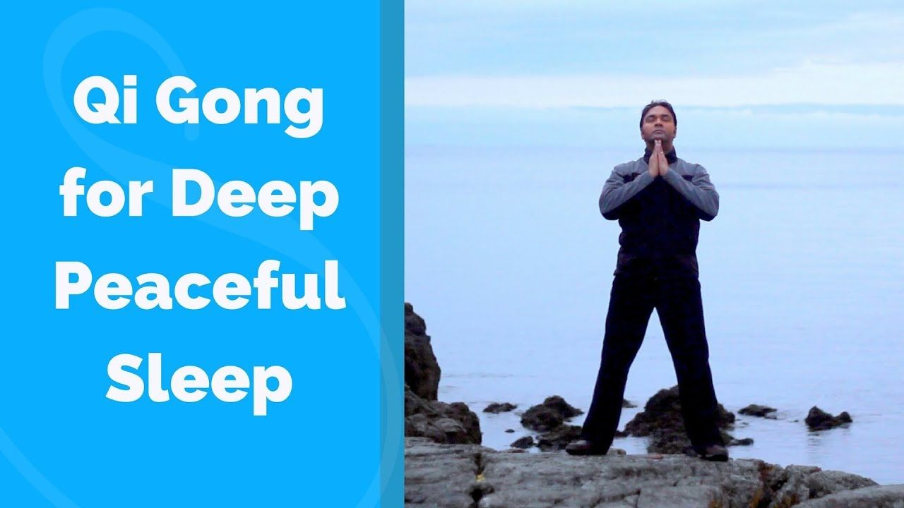 Qigong for Sleep -Deep and Peaceful w/ Jeffrey Chand | easy
