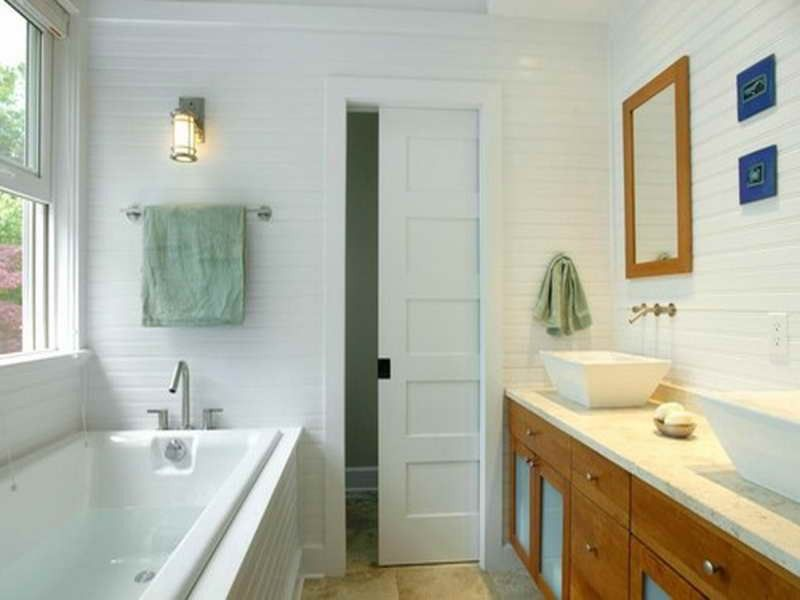 Pocket Door  Bathroom Remodel  Pinterest  Small Bathroom Brilliant Maximize Space In Small Bathroom Inspiration Design