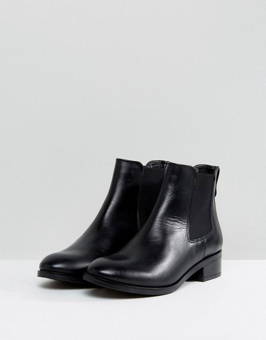 Womens Aldo Leather Chelsea Flat Ankle