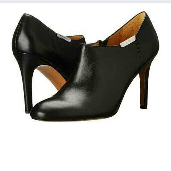"Coach Seneca booties sz 10 $178 NWOB Black leather upper and sole.  Side zip closure.  Heel: 3.5"" Coach Shoes"