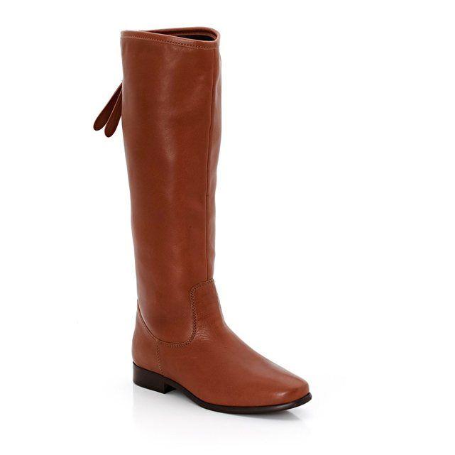 design de qualité 3e04d 3baaa Bottes zippées dos cuir lavé mollets L (larges mollets) R ...