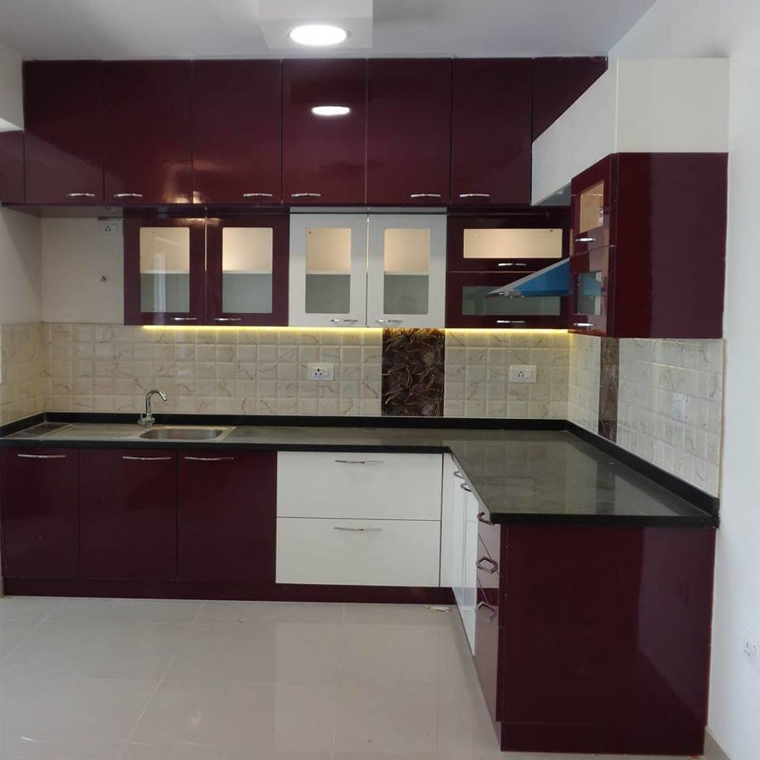Modular L Shaped Kitchen Kitchen By Scale Inch Pvt Ltd