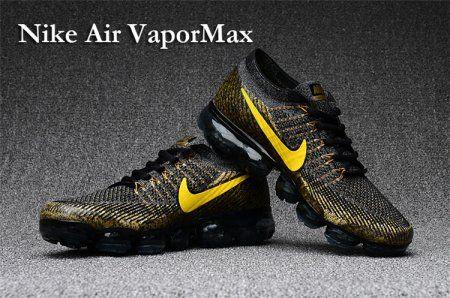 887c994e4e20 Nike Air Vapormax Flyknit Women Air Max 2018 Black Gold ...