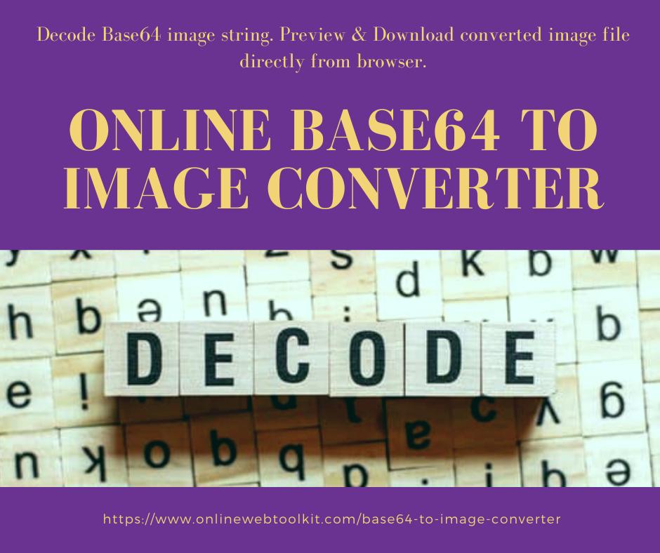 Online Base64 to Image Converter en 2020 Science, Numeriques