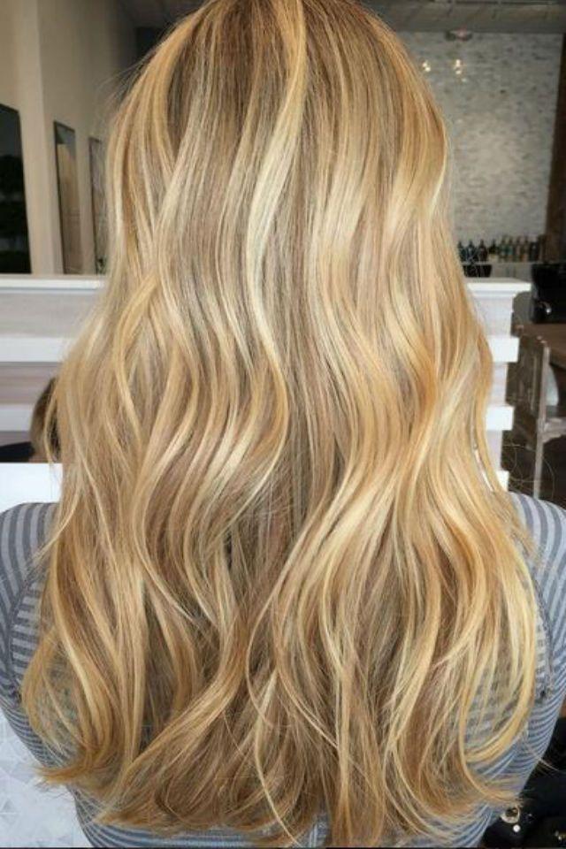 36 Blonde Balayage With Caramel Honey Copper Highlights Hair Styles Honey Blonde Hair Human Hair Wigs