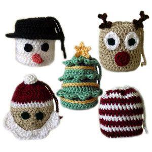 crochet christmas gift bags..tutorial to follow