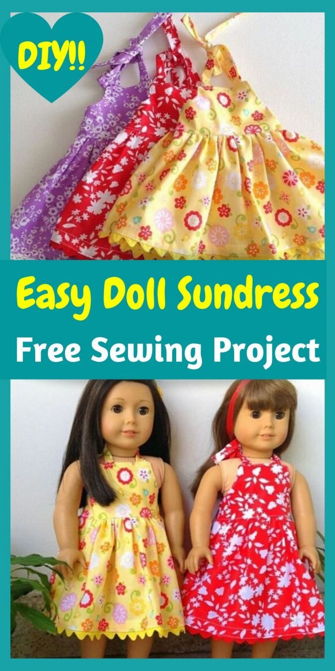 Free 18-inch American Doll Dress Sewing Project - Sew Crafty Me