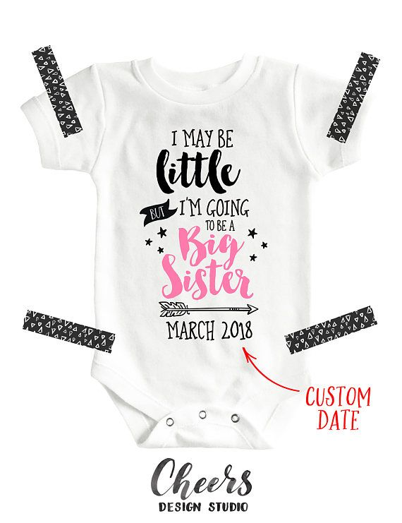 Big Sister Onesie Pregnancy Announcement Bodysuit Shirt