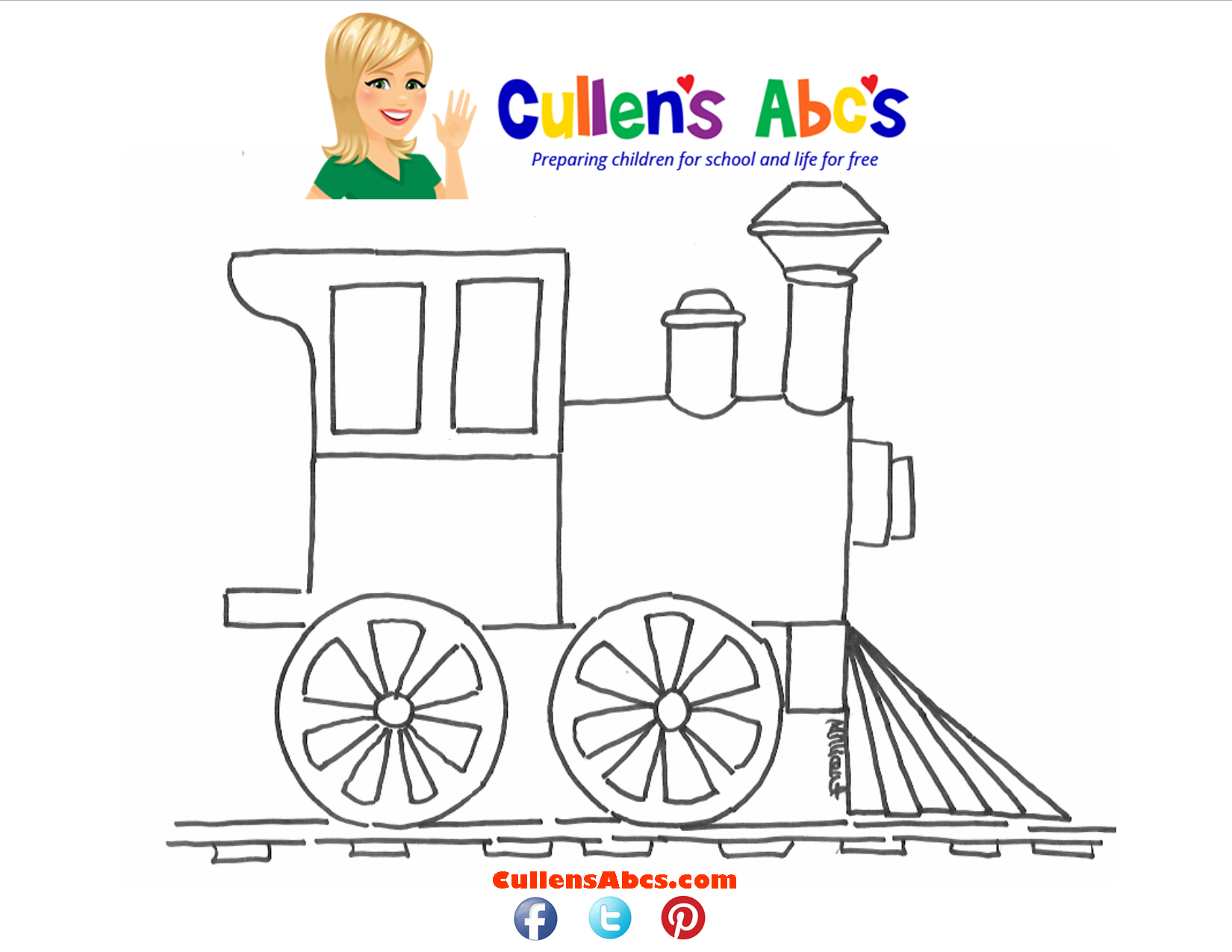 Train Coloring Sheet