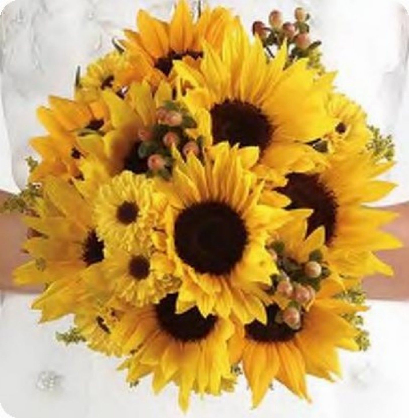 Wedding bouquets of sunflowers  Sunflowers  something like this for me but with gerbera daisies