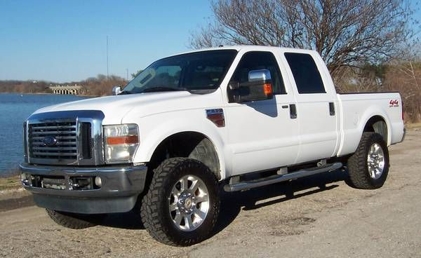 2008 ford f250 super duty crew cab 4x4 lariat 6.4 turbo diesel