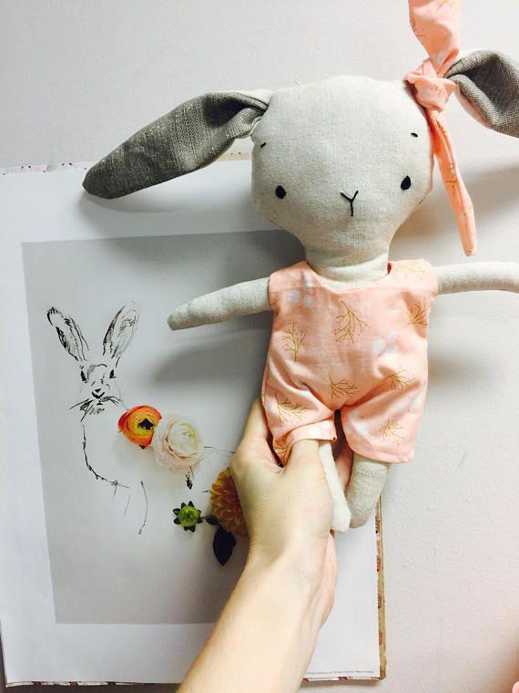 Petite poupée lapin poupée de chiffon peluche animal jouet poupée ...