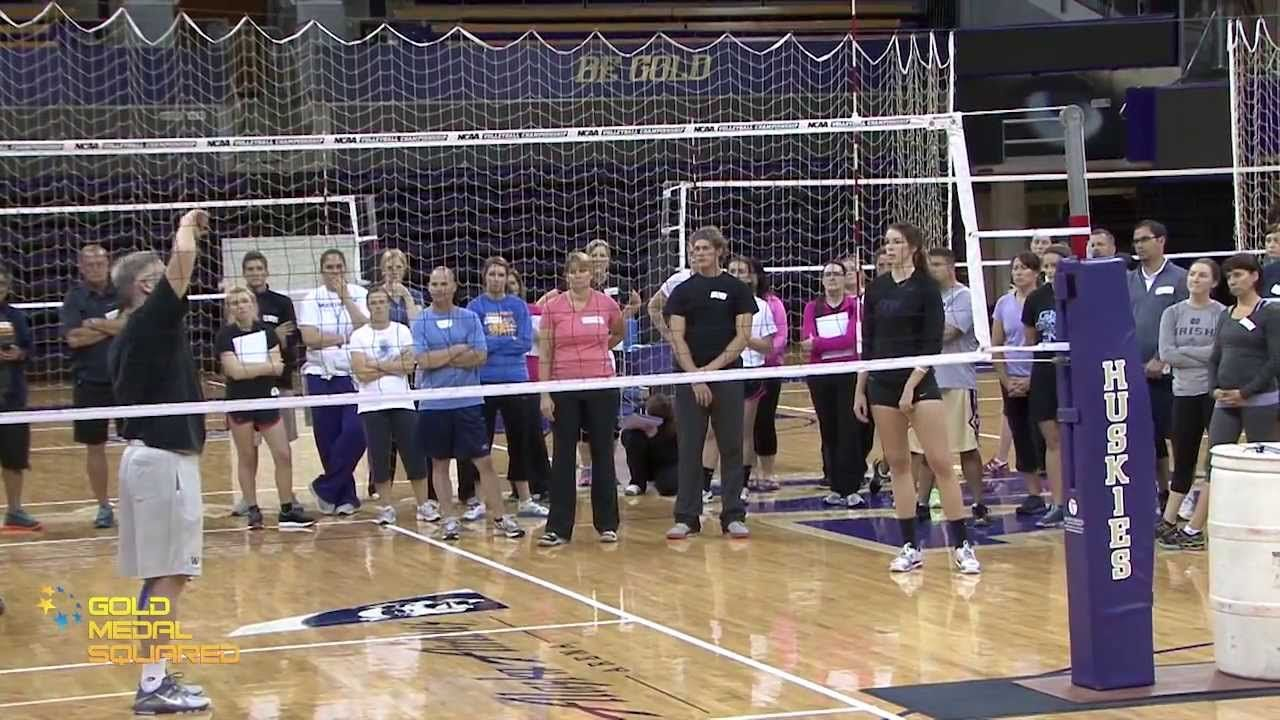 Spiking With Jim Mclaughlin Gold Medal Squared Volleyball With Images Coaching Volleyball Volleyball Passing Drills Volleyball Workouts
