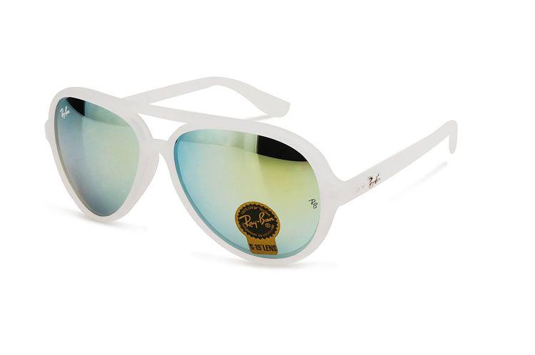 6c701e95acb  Rayban  rayban  RayBanSunglasses Ray Ban Cats 5000 Flash RB4125 Blue White  Sunglasses BCD