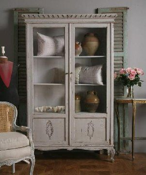 Beautiful Windowed Armoire I Would Blankets Here