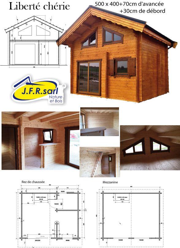 Chalet 20m2 Avec Mezzanine En 2020 Chalet Bois Chalet Et Maison Style