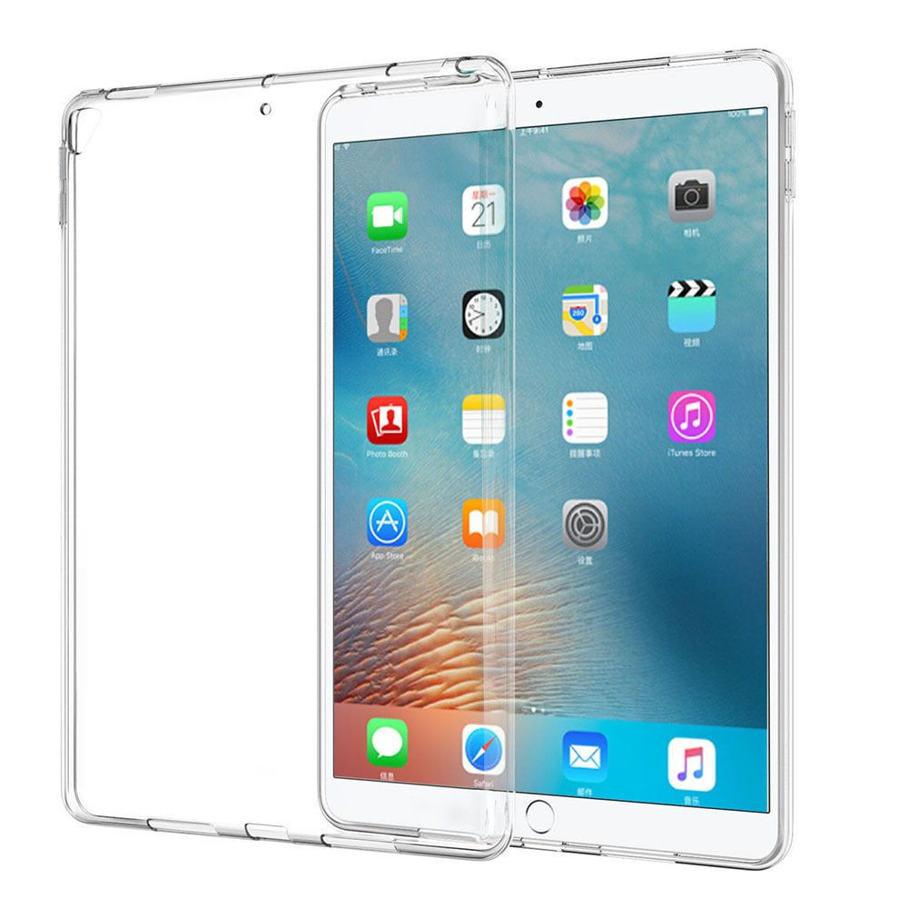 """For iPad Pro 10.5/""""//9.7/"""" 2017,Clear Ultral Slim Fit Silicone Soft TPU Case Cover"""