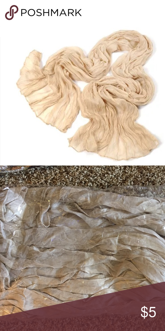 Wrap Lightweight Taupe Scarf NEW!