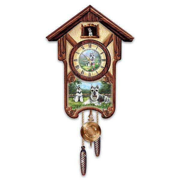 Linda Picken Sweet Schnauzers Wall Clock Cuckoo Clock Clock Wall Clock