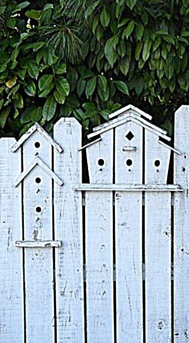 Bird House Picket Fence ❤ My Cottage Garden